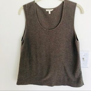 Eileen Fisher Knit Organic Cotton Sz Med Brown